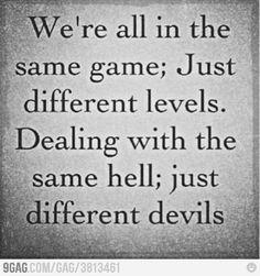 Same game, Different devils