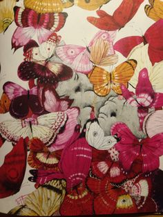 Illustratie van Carl Cneut uit 'Eén miljoen vlinders'