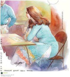Indian Women Painting, Indian Art Paintings, Cool Paintings, Sexy Painting, Painting Of Girl, Figure Painting, Cartoon Girl Drawing, Girl Cartoon, Graphite Drawings