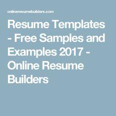 Make Free Resume Online Free Resume Builder And More Career Resources  Resumes  Pinterest .