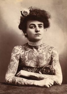Maud Stevens Wagner. The first female tattoo artist in the United States, 1907.