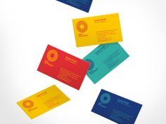 Another bright and beautiful branding project for Montreal Olympic Park designed by . Gorgeous colour palette and such a great. Collateral Design, Stationery Design, Identity Design, Visual Identity, Brand Identity, Cool Business Cards, Business Card Design, Creative Business, Montreal