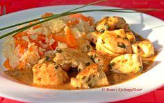 Manus Küchengeflüster: Hähnchenbrust in Honig-Senf-Sauce mit Möhren-Reis