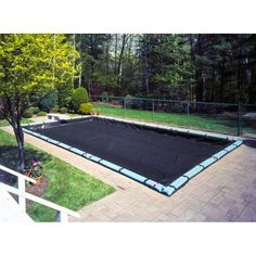 Heavy-Duty 8-Year Blue Winter Cover for In-Ground Swimming Pools