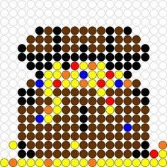Pirate treasure chest perler bead pattern