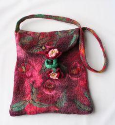 Felt Bag Purse Flower Stem Ties ★by FrouFrouFelt on Etsy