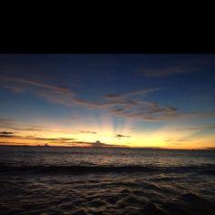 Sunset in Padang, West Sumatera