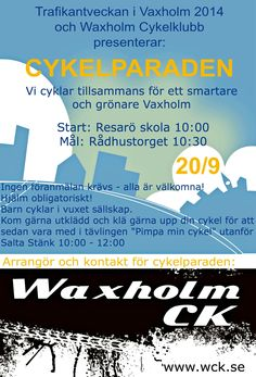 #cykla #cykel #parad #trafikantveckan2014 #vaxholm #eu4lifequality #europeiskatrafikantveckan #livskvalitet