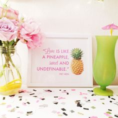 Pineapple Love Print   This would be such a cute theme for a Hawaii wedding