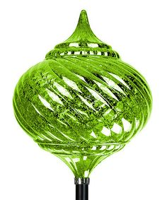 Love this Solar Green Onion Finial Stake on #zulily! #zulilyfinds
