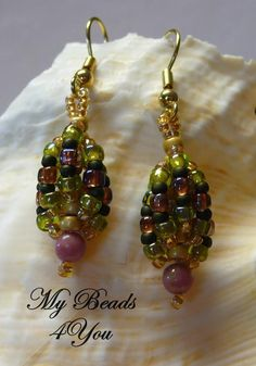 Beaded Earrings  check out my free pattern