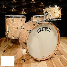 Gretsch Broadkaster Bomber Kit w/Vintage Build Antique Pearl Drum Sets For Sale, Drums For Sale, Pearl Snare Drum, Drum Chair, Gretsch Drums, Vintage Drums, Drum Lessons, Music, Guitar