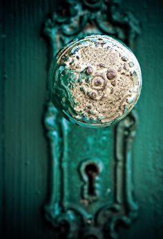 #emerald green, #door knob