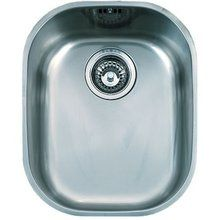 """View the Franke CPX11013 Compact 16-1/2"""" Single Basin Undermount 18-Gauge Stainless Steel Bar Sink at FaucetDirect.com."""