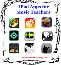 30 iPad Apps for Music Teachers ~ Educational Technology and Mobile Learning #ictclil_urjc #REAaicle_INTEF #mlearning_INTEF