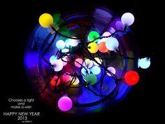 Elige una luz y pide un deseo .... FELIZ AÑO 2013