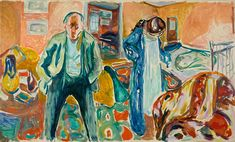 'Between the Clock and the Bed' by Edvard Munch at SFMOMA | #Art via @blouinartinfo