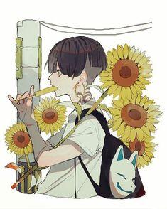 No photo description available. Art And Illustration, Anime Kunst, Anime Art, Anime Boy Zeichnung, Boy Art, Anime Style, Aesthetic Anime, Cute Art, Art Inspo