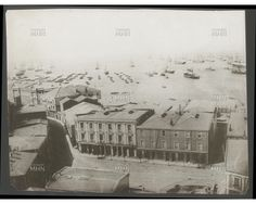 Asi era la Plaza Anibal Pinto en el año 1890   ---   Fotografía tomada desde el Cementerio   ---   MHN