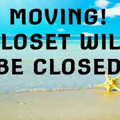 """Closing Closet By March 15th OR SOONER I am moving and will be unable to take all my """"for sale"""" items with me. I'm flying, and no truck will follow (new place is fully furnished. PLEASE, IF YOU ARE INTERESTED IN ANYTHING, NOW IS THE TIME TO BUY. I will at some point be having an estate sale and all clothing will be out. I have dropped prices, have two sales and a bundle discount. Also wil accept REASONABLE offers (pls don't offer $10 for an item listed at $35l. Thank you and Happy Poshing…"""