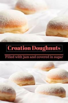 Croatian donuts Like you've never tasted Best in the world Biscuit Donuts, Doughnuts, Biscuits, Donut Recipes, Baking Recipes, Just Desserts, Dessert Recipes, Caramel Cookies, Muffins