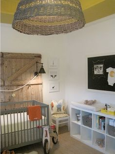 Get tin baskets for the changing table -- i like that instead of baskets