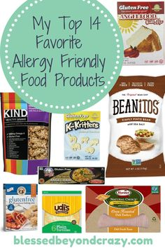 My Top 14 Favorite Allergy Friendly Food Products - if you, or someone you know, has food allergies you know how hard it is to find quality products that are allergy friendly. Here are some of my favorites <3