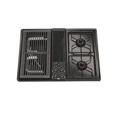 Whirlpool 30-Inch 4-Burner Gas Cooktop (Color: Black)