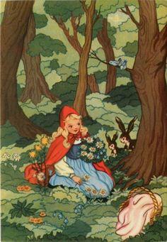 Little Red Riding Hood....Chapeuzinho Vermelho (título no Brasil) é um conto de fadas clássico, de origem europeia do século XIV. O nome do conto vem da protagonista, uma menina que usa um capuz vermelho. Publicada pela primeira vez pelo francês Charles Perrault, e depois pelos Irmãos Grimm (da versão mais conhecida), o conto sofreu inúmeras adaptações, mudanças e releituras modernas, tornando-se parte da cultura popular mundial, e uma das fábulas mais conhecidas de todos os tempos.