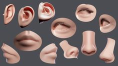 Facial Element by BGShop Facial element low-poly model ready for Virtual Reality (VR), Augmented Reality (AR), games and other real-time apps. 3d Anatomy, 3d Model Architecture, 3d Model Character, Low Poly 3d Models, 3d Face, Augmented Reality, Virtual Reality, 3d Projects, Zbrush