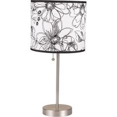 ORE International Floral Print 2-Piece Table Lamp