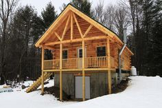 Coventry Log Homes | Our Log Home Designs | Cabin Series | The Northwood