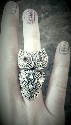 New owl ring (: #owlobsession
