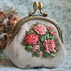 Silk ribbon purse from Fair Masters | handmade, crafts, art