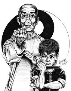 Nice drawing Ip Man and young Bruce Lee Arte Bruce Lee, Bruce Lee Fotos, Wing Chun, Kung Fu Martial Arts, Chinese Martial Arts, Qwan Ki Do, Arte Ninja, Kung Fu Movies, Legendary Dragons