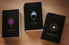 minimalist HP book cover design