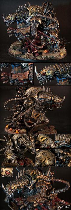 Beast, Chaos, Close Combat, Daemons, Dreadnought, Iron Warriors, Lasher, Maulerfiend, Melee, Metal, Siege, Walker
