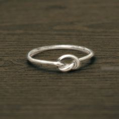 Love knot infinity 18K gold plated / silver ring