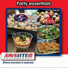 Saverite Supermarket York Street is open from 8h00 until 16h00 every Saturday so you can stock up on all your rugby essentials. Todays SA derby Stormers against the Lions, who do you think is going to win? #supermarket #groceries #partysnacks