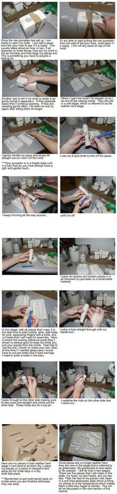 Porcelain BJD tutorials: 4. Casting - by Allison Mecleary, Woodland Earth Studio
