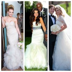Celeb wedding dresses Plan your celebrity style wedding at www.jellifi.com