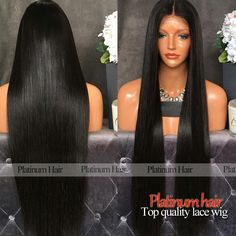 Stock Wholesale Price Silky Straight Long Black Hair Wigs 180 Density Synthetic Lace Front Wig With Baby Hair Free Shipping