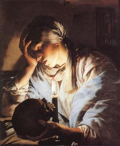 Hendrick ter Brugghen and Melancholia or Mary Magdalene
