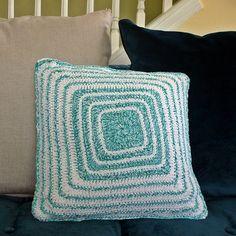 Illusion Ripple Crocheted Pillow