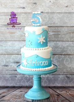 FROZEN for Arianna by Violet - The Violet Cake Shop