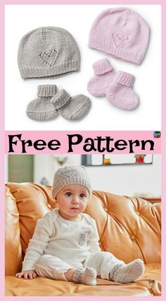 Create This Warm And Cozy Set Of Knitted Knittingforbabies - Diy Crafts - Marecipe Baby Mittens Knitting Pattern, Baby Booties Free Pattern, Baby Hat Patterns, Baby Hats Knitting, Baby Knitting Patterns Free Newborn, Newborn Knit Hat, Knitted Baby Beanies, Knitted Hats, Newborn Hats