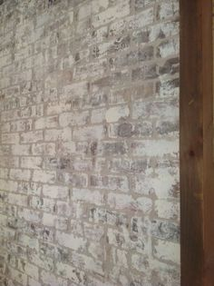How to paint bricks with Old White Chalk Paint® from Mary Anne Merfeld, Visit BrushStrokes By Mary Anne, Cumming, GA. White Wash Brick Fireplace, Paint Fireplace, Brick Fireplace Makeover, Fireplace Remodel, Small Fireplace, White Wash Brick Exterior, Fireplace Candles, Country Fireplace, Craftsman Fireplace