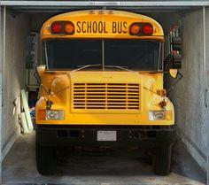 Fotoplane für Garagentor Schulbus, Garage Mural Schoolbus