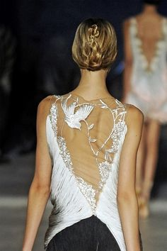 embroidery by Alexander McQueen - love the back of this piece!