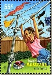 AUSTRALIA - CIRCA A stamp printed in Australia shows a girl playing on a clothesline as a hills hoist, inventive, circa 2009 Vintage Ads, Vintage Posters, Australia Tourism, Iconic Australia, South Australia, City Icon, Kids Swing, Ap World History, Stamp Collecting